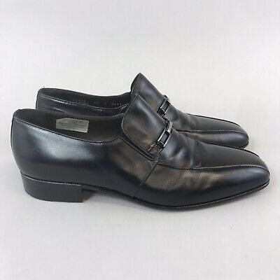 £54.99 • Buy Russell Bromley Moreschi Maestro Black Leather Slip On Smart Dress Shoes 43 UK9