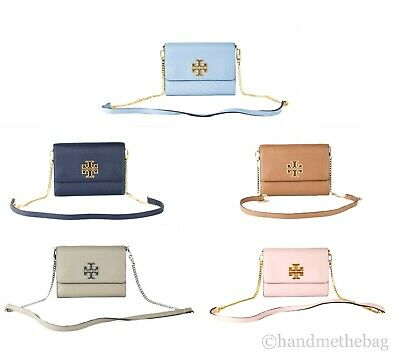 $179 • Buy Tory Burch (67296) Pebbled Leather Britten Chain Wallet Crossbody Hand Bag