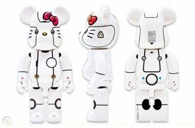 $1500 • Buy Medicom Bearbrick 1000% Action City 2018 Hello Kitty Robot • White Version NEW