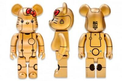 $1500 • Buy Medicom Bearbrick 1000% Action City 2018 Hello Kitty Robot • Gold Version NEW