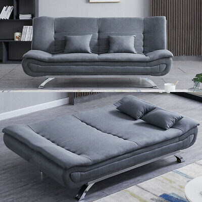 Fabric Sofa Bed Recliner Chair Sleeper Sofa Bed 2/3Seater Couch Settee/Chair Bed • 329.95£