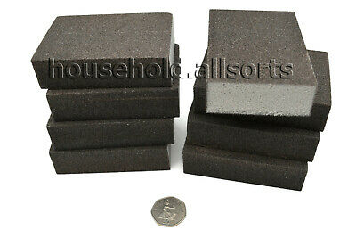 SANDING BLOCKS Flexible Foam Sponge Backed Medium Grit Abrasive Pads Wet Dry • 11.99£