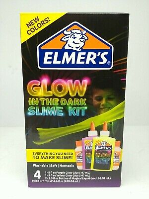 AU8.95 • Buy Elmers Slime Kit - Glow In The Dark - Glue Craft - 4 Piece Kit