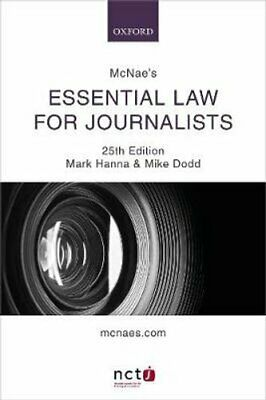 £25.57 • Buy McNae's Essential Law For Journalists By Mark Hanna 9780198839835 | Brand New