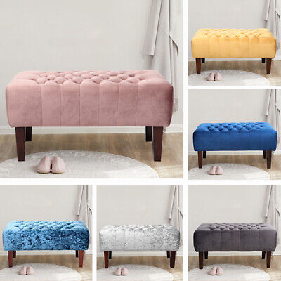 Large Chesterfield Buttoned Coffee Table Footstool Window Bench Footrest Ottoman • 69.95£