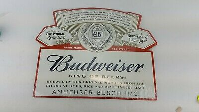 $ CDN37.95 • Buy Budweiser King Of Beers Metal Stamped Sign Large 18  X 14  Beer Label