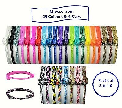 Paracord Puppy ID Collars;Puppy Or Kitten Whelping Bands; Choose Colours & Sizes • 2.99£