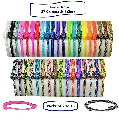 £3.39 • Buy Paracord Whelping ID Collars; Adjustable Puppy-Kitten Bands; Colour-Size Choice