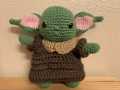 $24.99 • Buy Baby Yoda Handstitched Amigurami Doll (The Child From The Mandalorian)