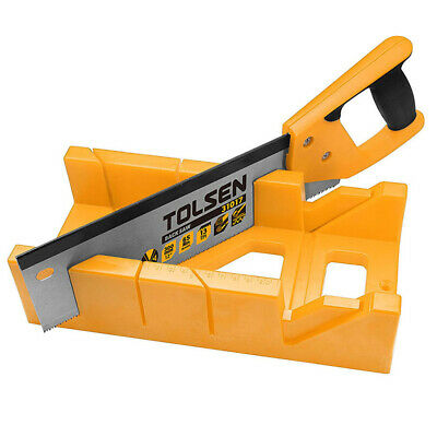 £12.95 • Buy Tolsen Mitre Block & Saw - Angle Cutting Box Sawing Guide Tool With 12  Hand Saw