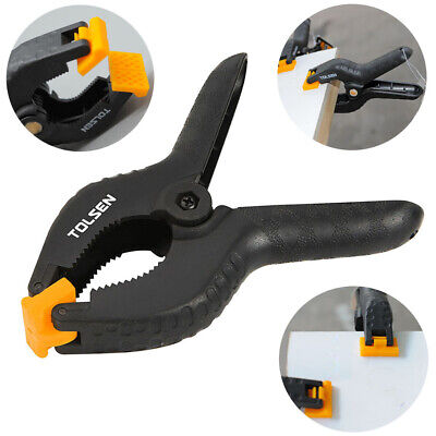 Tolsen Spring Clamps - Heavy Duty Plastic Vice Grips - Quick Grip Clips - 4 - 9  • 9.95£