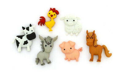 £3.99 • Buy Childrens Buttons Dress It Up - Farm Animals - Novelty Buttons Craft Sewing