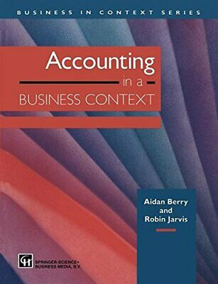 Accounting In A Business Context, JARVIS, ROBIN 9780412587405 Free Shipping,, • 72.41£