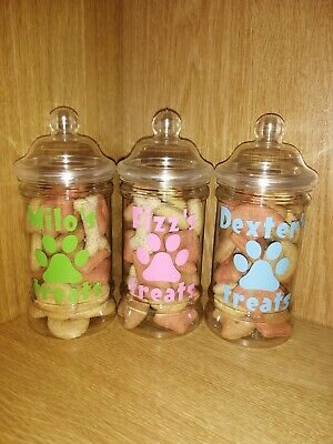 Personalised Treat Jar For Dogs & Cats.  Santa Paws Christmas Gifts Pets Puppy  • 5.50£