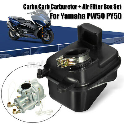 AU32.99 • Buy For Yamaha Pw50 Py50 Motor Replace Carby Carb Carburetor + Air Filter Box