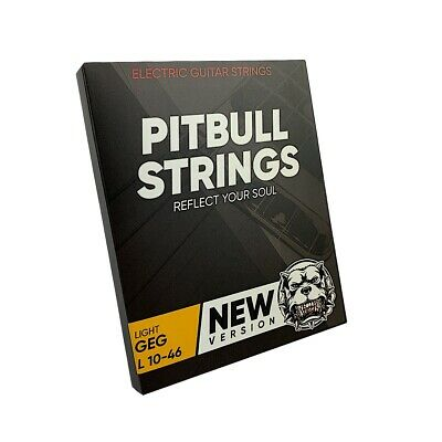 $ CDN10.60 • Buy Premium Electric Guitar Strings 10-46 - Pitbull Strings Gold Series  - GEG-L