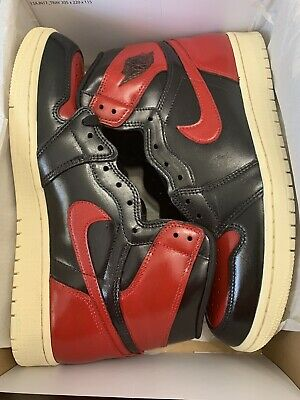 $229.99 • Buy Nike Air Jordan 1 High OG Defiant Couture Banned Bred Custom Painted Men's 9.5
