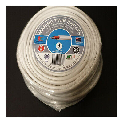 AU46.51 • Buy 4mm X 20m Tinned Dual Core Wire Automotive And Marine Use TYCAB Australian Wire