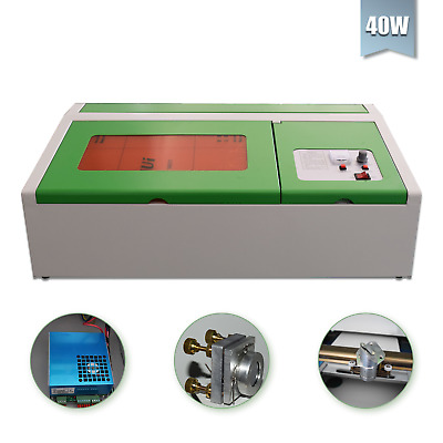USB 40W CO2 Laser Engraving Cutting Machine Engraver Cutter Wood Working/Crafts • 268.85£