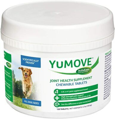 Lintbells YOUMOVE Dog Mobility Health Supplement Aid For Stiff Old Dogs 120 Tabs • 22.73£