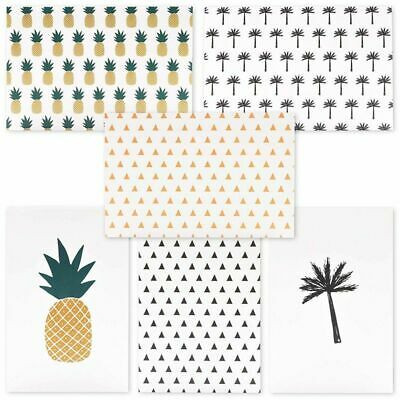 $11.99 • Buy 48 All Occasion Greeting Card W/ Envelopes, Pineapple & Palm Tree Design, 4 X6