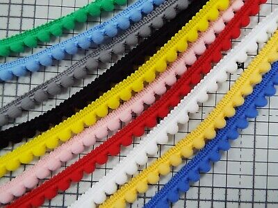 1 X Meter  Mini Pom Pom  Tape Trimming Sewing Craft  - 10 Colours  • 1.79£