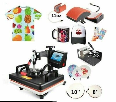 $ CDN665.09 • Buy Heat Press Printer Sublimation Machines For Business 5 In 1 Combo Printing Tools