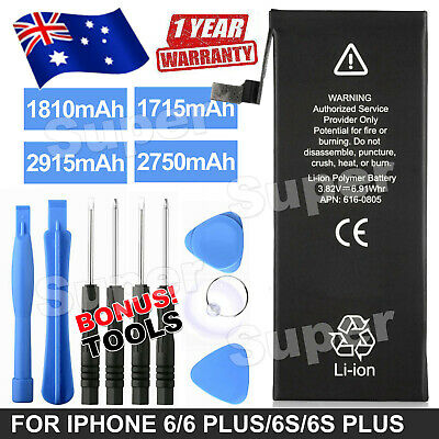 AU11.95 • Buy NEW OEM IPhone Battery Replacement For IPhone 6S Plus 6 Plus 6s 6 +Tools
