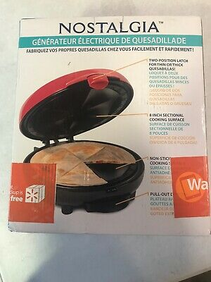 $33.20 • Buy Nostalgia EQM200 6-Wedge Electric Quesadilla Maker