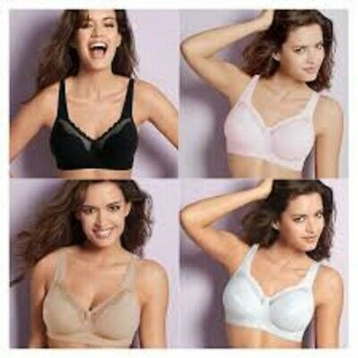 Bestform Non -wired 535 Cotton Comfort  Bras In White,Black,Nude And Pink • 21£