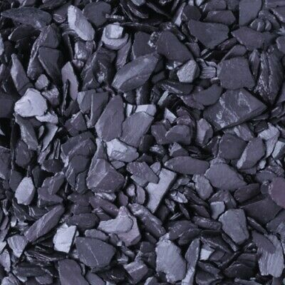 Blue Slate Chippings For Garden Driveway [20mm Fish Friendly Quality Gravel] • 10£