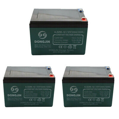 AU165.99 • Buy 3x 12V 14AH SLA Lead Acid Battery 6-DZM-12 Rechargeable For Eaton UPS NBN Alarm