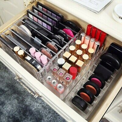 AU16.99 • Buy Clear Cosmetic Organizer Acrylic Makeup Drawers Jewelry Holder Case Box Storage