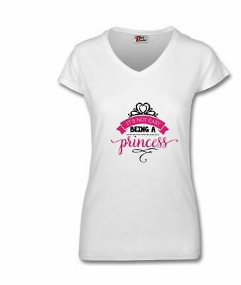 AU26.49 • Buy T-Shirt Women Clothing Its Not Easy Being A Princess Gift Love My White Mum V