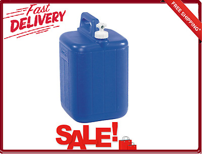 $32.88 • Buy Coleman 5 Gallon Jug Water Carrier Low Screws Off Spout Blue Polyethylene New