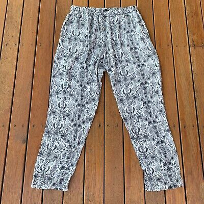 AU40 • Buy Oysho Snake Skin Grey Black Pants Casual Loose Draw String Pockets Size L