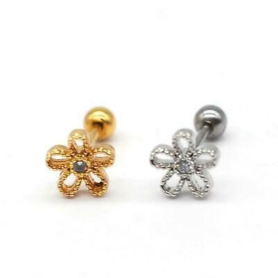 $4.90 • Buy S.Steel, Minimalist Earrings, Tiny Cartilage Piercing, Dainty Earring, SSCZ01