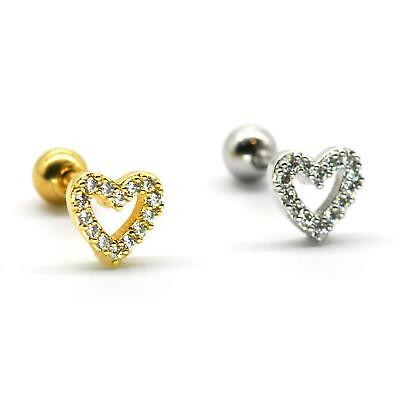 $4.90 • Buy S.Steel Rhinestone Micro Paved, Minimalist Earrings,Cartilage Piercing,SSCZ04