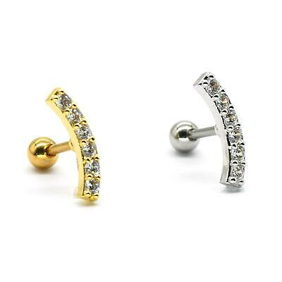 $4.90 • Buy S.Steel Rhinestone Micro Paved, Minimalist Earrings,Cartilage Piercing,SSCZ07