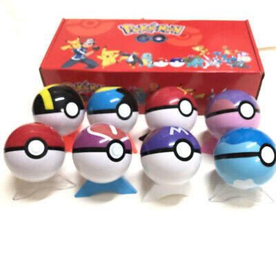 New 2.8'' 8Pcs/Set Pokeball Ball Pokemon GO Action Figures Christmas Toy Gift • 11.59£