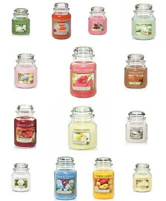 Yankee Candle Glass Jar Scented Assorted Fragrance Candles Gift Present 411g • 19.99£