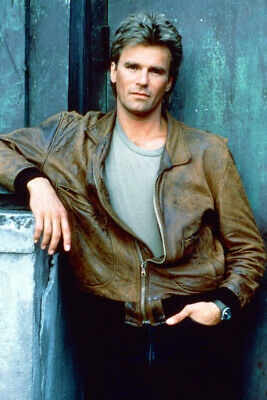 $29 • Buy Richard Dean Anderson Macgyver 24x36 Poster In Brown Leather Jacket