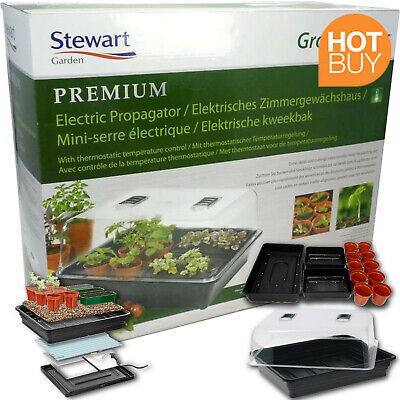 £60.33 • Buy Stewart Electric Propagator Thermostat Controlled 52 Cm Black For Veg Fruit Herb