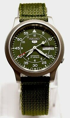 $ CDN121.32 • Buy SNK805K2 SEIKO 5 Military Style Automatic Men's Green Watch Brand New !!