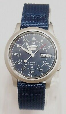 $ CDN119.93 • Buy SNK807K2 SEIKO 5 Military Style Automatic Men's Blue Watch Brand New !!