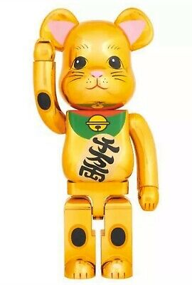 $2500 • Buy Medicom Bearbrick 2017 Lucky Cat Gold #1 Japan 1000% Golden Neko Be@rbrick NEW