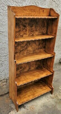 $365 • Buy Vintage English Oak Antique Arts & Crafts Open Bookcase Shelves LA Area