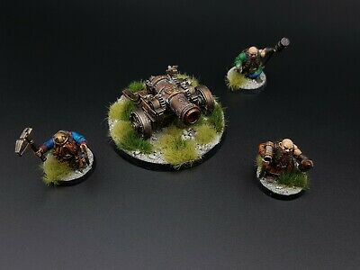 Age Of Sigmar Dwarf Cannon And Crew Pro Painted R3S1B1 • 33.99£