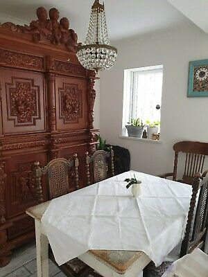 French Damask Tablecloth With Embroidery  • 20£