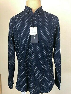 $34.99 • Buy New Zara Man Navy Blue Dress Shirt Size XXL